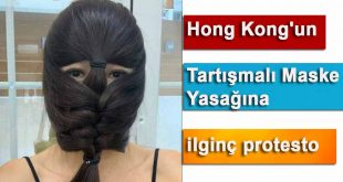 Hong Kong'un Tartışmalı Maske Yasağına ilginç protesto