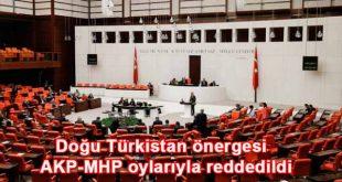 Doğu Türkistan önergesi AKP-MHP oylarıyla reddedildi