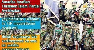 ABD taraftarı TİP Ayrılıkçıları yayınladıkları Beyanat ile tehdit etti.