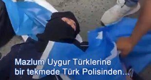Çin Konsolonsluğu önünde ailelerini araya Uygur Türklerine bir darbe de İstanbul Emniyetinden